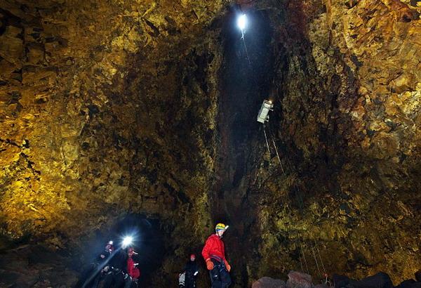 Gunung Thrihnukagigur dari bagian dalam (Foto: dailymail)
