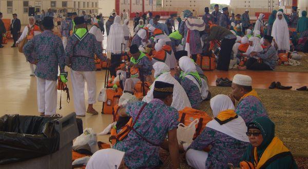 Jamaah haji Indonesia baru saja tiba di Arab Saudi (Fetra Hariandja-okezone.com)