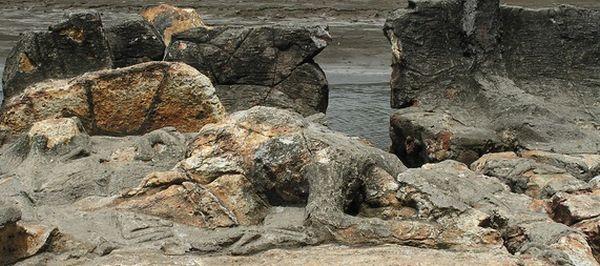 Batu Malin Kundang di Pantai Air Manis, Padang (Foto: myopera)