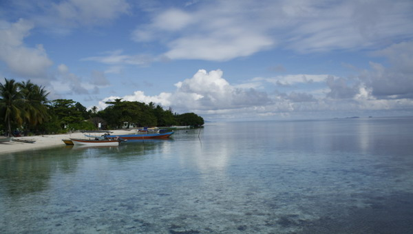 Desa Arborek di Kabupaten Raja Ampat yang indah (Foto: Fitri/Okezone)