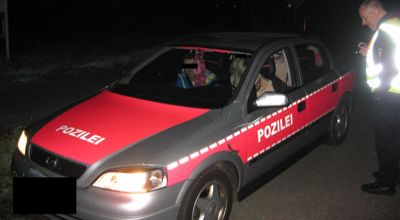 Mobil polisi pink (Foto: Orange)