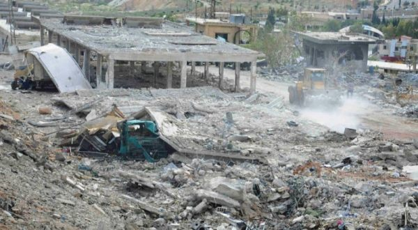 Foto : Wilayah Suriah yang diserang Israel (Daily Mail)