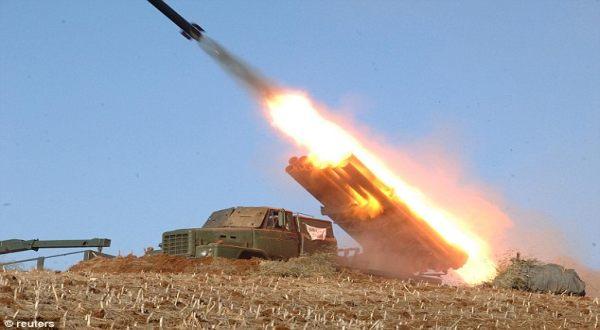 Foto : Uji coba misil Korut (Reuters)