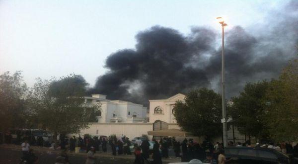 Konsulat RI Jeddah yang Terbakar (Foto:Riyadhconnect)