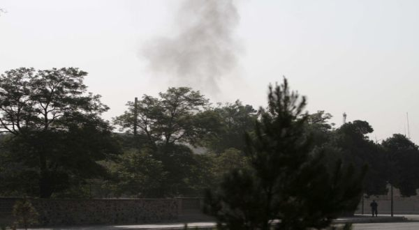 Foto : Serangan Taliban di komplek kantor Presiden Afghanistan (AP)