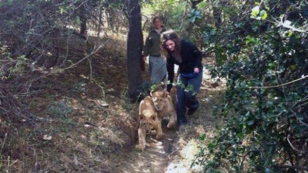 Lauren saat menjadi sukarelawan. (Foto: Facebook)