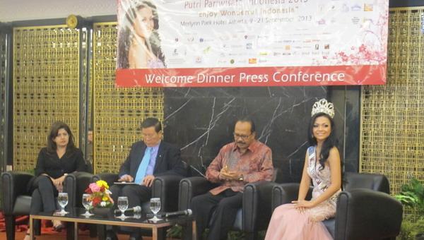Konfrensi pers Putri Pariwisata Indonesia 2013 (Foto:Dewi/Okezone)