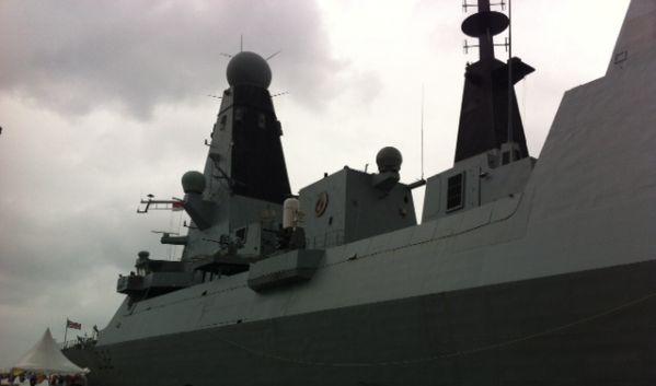 Kapal perang Inggris, HMS Daring. (Foto: Andreas Gerry Tuwo)