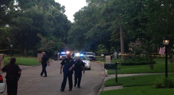 Polisi di lokasi penembakan (Foto: ITV)