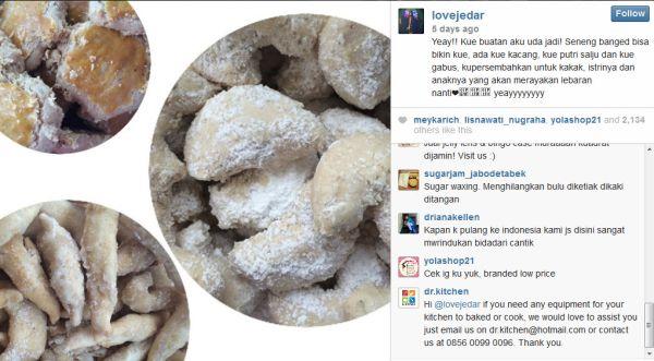 Hamil di Amerika, Jessica Iskandar sibuk bikin kue Lebaran (Foto: Instagram)