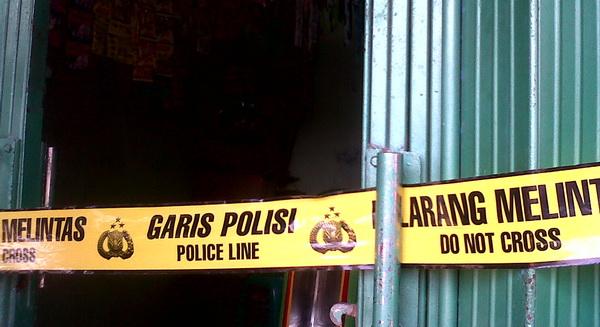 Polisi Sesalkan Istri Pemilik Warung Bersihkan Ceceran Darah Korban