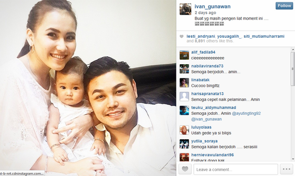 Ayu Ting-ting Tanggapi Foto Bareng Ivan Gunawan (Foto: Instagram)