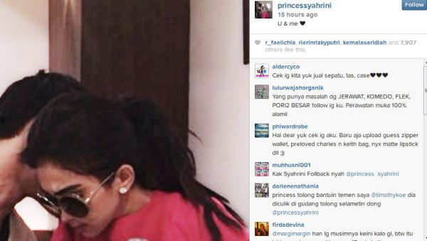 Pria ini pacar baru Syahrini? (Foto: Instagram)