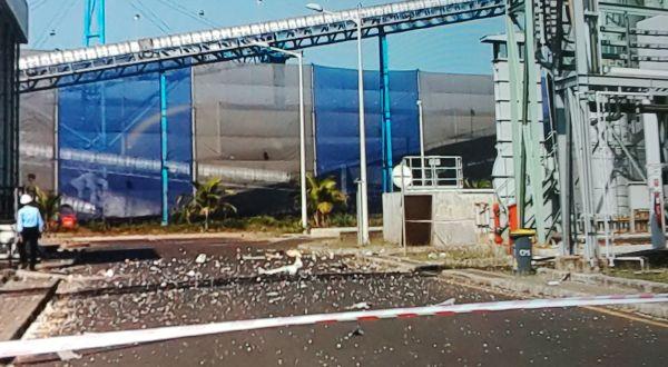 Lokasi ledakan di PLTU Kanci Cirebon (Repro: Erika Lia/Koran Sindo)