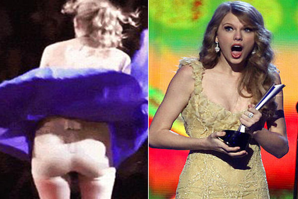Rok Tersibak, Celana Dalam Taylor Swift Ngintip