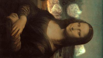 Foto : Lukisan Monalisa terbalik (Orange)