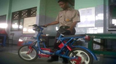 Sepeda Listrik Buatan Siswa SMK Dibuat dari Bahan Bekas