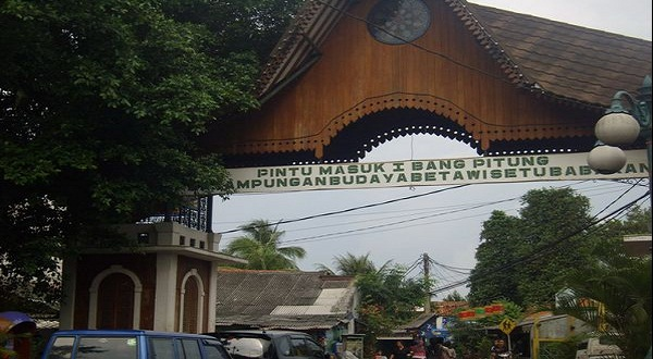 Pintu Bang Pitung di Setu Babakan (foto: pasha ernowo/okezone)
