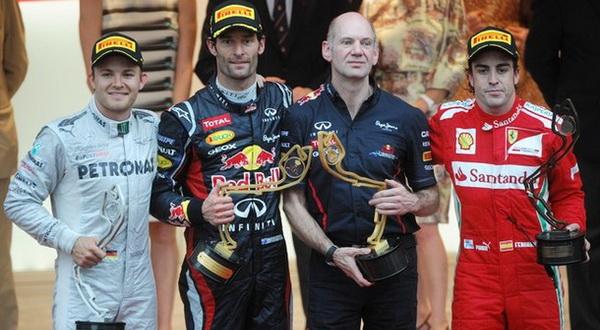 Mark Webber saat memenangi GP Monaco sekaligus menciptakan sejarah baru di F1 (Foto: Getty Images)