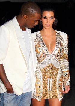 Kanye West & Kim Kardashian (Foto: The Sun)