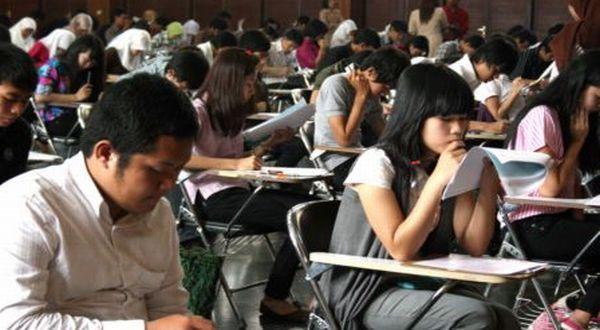 Suasana ujian tulis SNMPTN