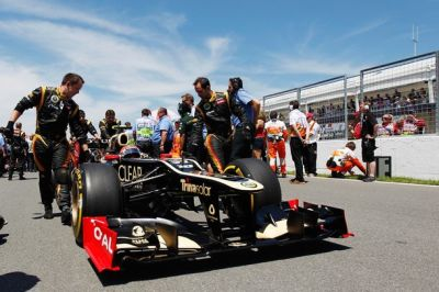 Romain Grosjean bersama tim Lotus F1. (Foto: Getty Images)