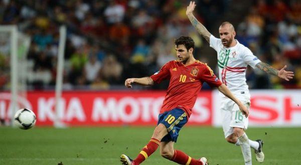 Cesc Fabregas penentu kemenangan Spanyol. (Foto: Getty Images)