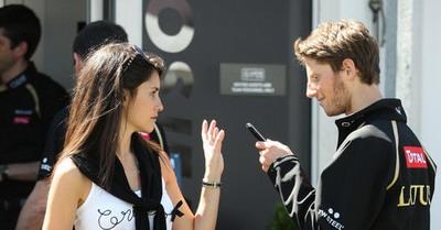 Marion Jolles & Romain Grosjean (Foto: PlanetF1)