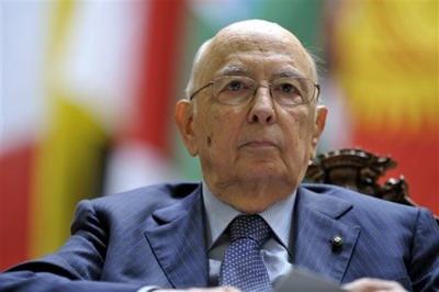 Presiden Italia Giorgio Napolitano kini sudah berusia 86 tahun/AP Photo