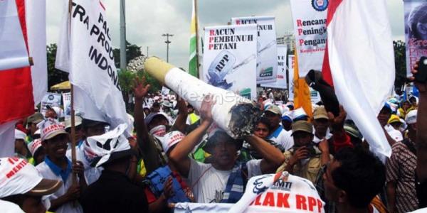 Demo petani tembakau (Foto: Heru/Okezone)
