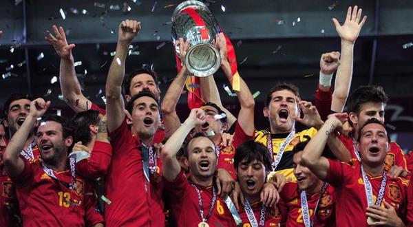 Timnas Spanyol saat juara Euro 2012 (Foto: Getty)