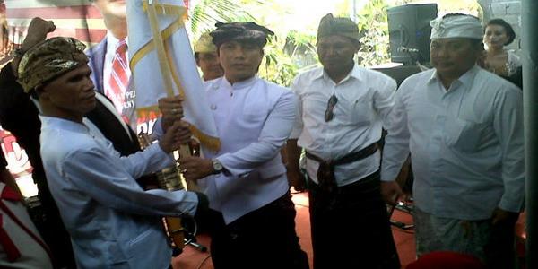 Pengukuhkan Gerakan Rakyat Indonesia Baru (GRIB) di Bali (foto: Rohmat/ Okezone)