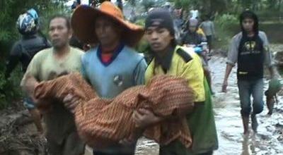 Ilustrasi banjir bandang (Foto: Sindo TV)