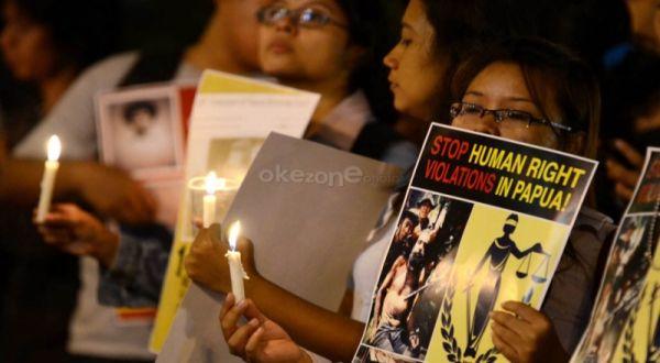 Ilustrasi, Aksi damai Papua di Bundaran HI (Foto: Dede K/okezone)