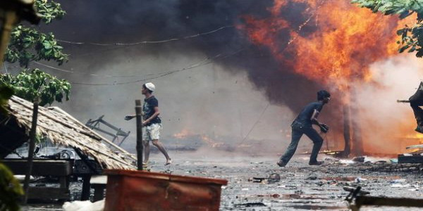 Ilustrasi kerusuhan Rohingya (foto: Reuters)