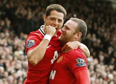 Javier 'Chicharito' Hernandez dan Wayne Rooney. (Foto: Reuters)