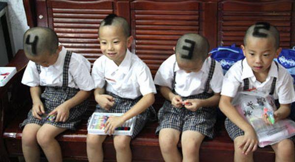 Keempat putra Mum Tan Chaoyun (Foto: Orange)