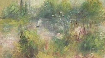 Lukisan Renoir yang ditemukan di pasar (Foto: Sky News)