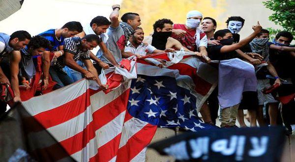 Protes anti-AS akibat peredaran film yang dinilai melecehkan Islam (Foto: NY Daily News)