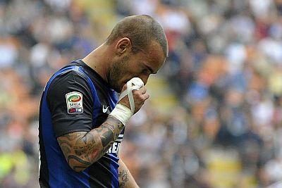 Lini depan Inter Milan akan semakin dahsyat  pada ketika menghadapi Derby Milan Terkini Palacio Sembuh, Sneijder dan Chivu Absen