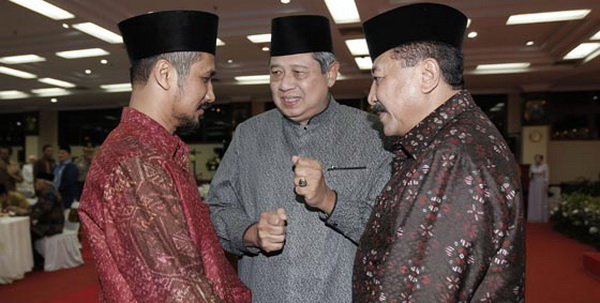 Abraham Samad-SBY-Timur Pradopo (Foto: Abror Rizki)