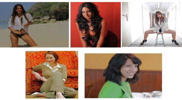 Atas: Catarina Migliorini, Natalie Dylan,