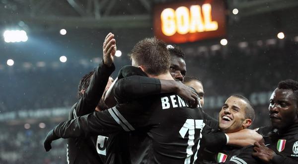 Pemain Juventus merayakan kemenangan atas Bologna (Foto: Reuters)