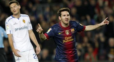 Selebrasi gol Messi (Foto Reuters)