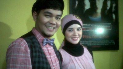 Indra Bekti & Dila (Foto: Mega Laraswati/Okezone)