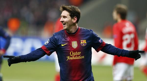 Selebrasi Lionel Messi usai menjebol gawang Spartak Moskow. (Foto: Reuters)