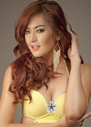 Maria Selena Seksi Berbikini Kuning