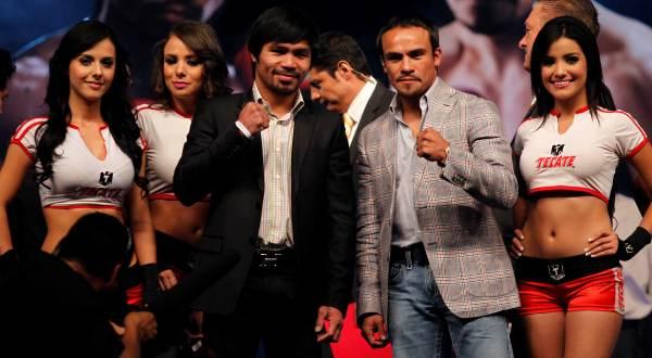 Emmanuel 'Manny' Dapidran Pacquiao (ketiga dari kiri) siapkan kejutan di edisi ketiga kontra Juan Manuel Marquez Mendez (Foto: Reuters)