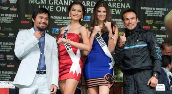 Emmanuel 'Manny' Dapidran Pacquiao (kiri) & Juan Manuel Marquez Mendez (kanan) (Foto: Reuters)