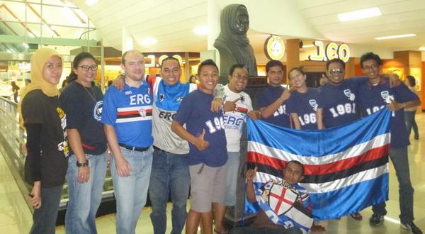 Fans Sampdoria di Indonesia. (Foto: Zaky Raya)